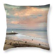 Evening On Seabright Beach Throw Pillow
