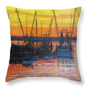 Evening On Shem Creek Throw Pillow