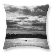 Evening On South River - Bw Throw Pillow