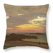 Evening On The Coast Throw Pillow