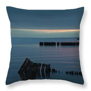 Evening On The Great South Bay Throw Pillow
