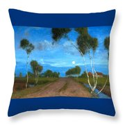 Evening On The Moor Throw Pillow