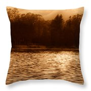 Evening On The New York Shore Throw Pillow