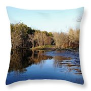 Evening On The Speed River Throw Pillow