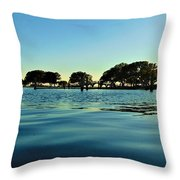 Evening On Water Throw Pillow