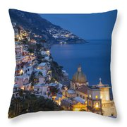 Evening Over Positano Throw Pillow