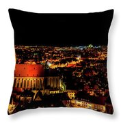 Evening Panorama - Landshut Germany Throw Pillow