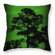 Evening Pine Throw Pillow