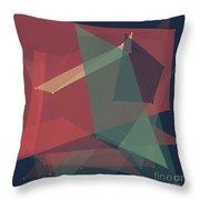 Evening Polygon Pattern Throw Pillow