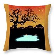 Evening Pool Throw Pillow