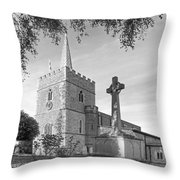 Evening Prayers In Black And White Throw Pillow