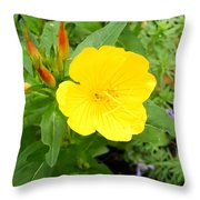 Yellow Sundrop Throw Pillow