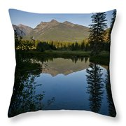 Evening Reflection Throw Pillow