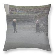Evening Relaxation Throw Pillow