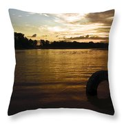 Evening River Throw Pillow
