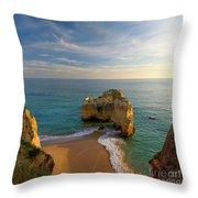 Evening Rocha Rocks Throw Pillow