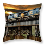 Evening Run Throw Pillow