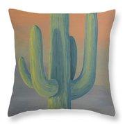 Evening Saguaro Throw Pillow
