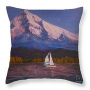 Evening Sail Throw Pillow