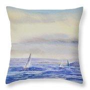 Evening Sail On Little Narragansett Bay Throw Pillow