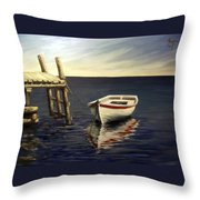 Evening Sea Throw Pillow