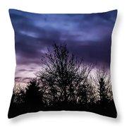 Evening Silhouettes  Throw Pillow