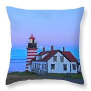 Evening Skies Of Green Throw Pillow