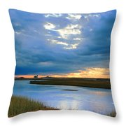 Evening Sky Over Hatches Harbor, Provincetown Throw Pillow