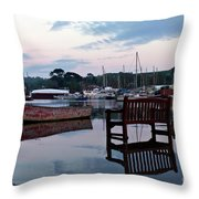 Evening Spring Tide In Mylor Bridge Throw Pillow
