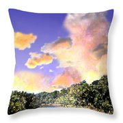 Evening Star Throw Pillow