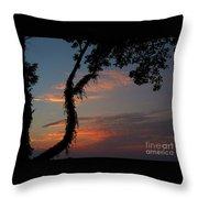 Evening Sun Throw Pillow