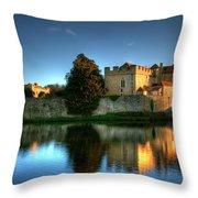 Evening Sun At Leeds Castle Throw Pillow