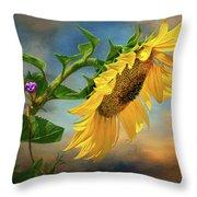 Evening Sunflower Throw Pillow