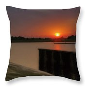 Evening Sunset In May Throw Pillow