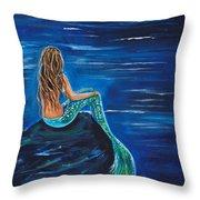 Evening Tide Mermaid Throw Pillow