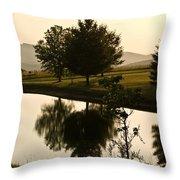 Evening Tide On The Farm Throw Pillow