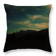 Evening Time In The Cascades Throw Pillow