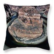 Evening Tones Horseshoe Bend Arizona Landscape  Throw Pillow