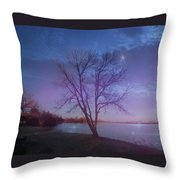 Evening Twinkles Throw Pillow