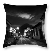Evening Under The Volcano Throw Pillow