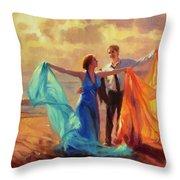 Evening Waltz Throw Pillow