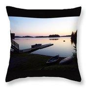 Evening Water Bliss Throw Pillow