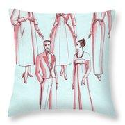 Evening Wear, 1956 Throw Pillow