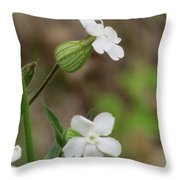 Evening Wildflower Throw Pillow