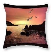 Evening's End Throw Pillow