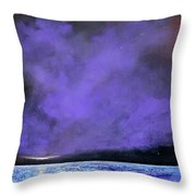Evenings End Throw Pillow