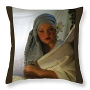 Evenings Thoughts Throw Pillow