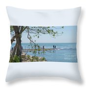 Ever-changing Pelee Throw Pillow