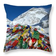 Everest Base Camp Throw Pillow