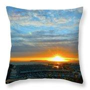 Everett Marina Sunset Throw Pillow